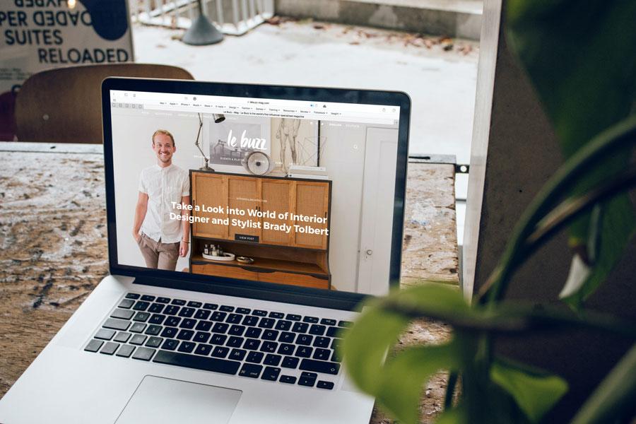 Sicht auf eine Business Website für die Neukundengewinnung
