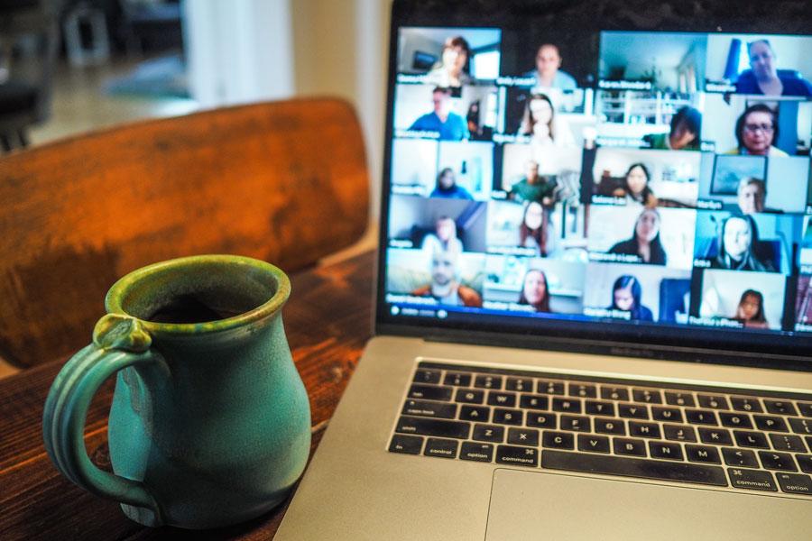 Online-Meeting mit dem Vertriebsteam
