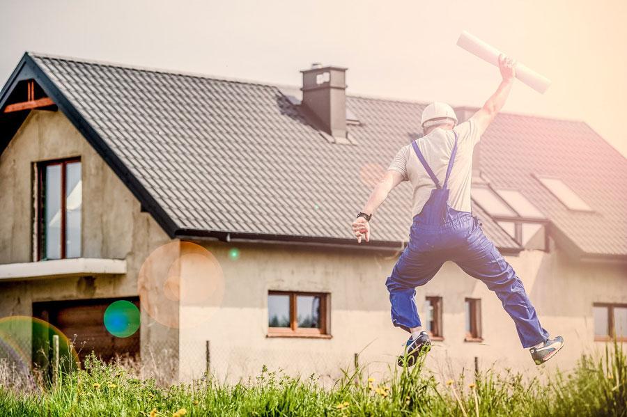 Ein Haus wurde erfolgreich über den Vertrieb gebaut und vom Unternehmen fertiggestellt.